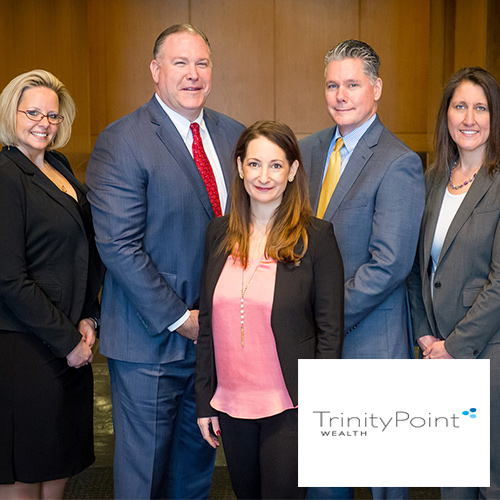 Group Smiling for Trinity Point Wealth Photo