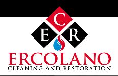 Red and Black Ercolano Cleaning and Restoration Logo